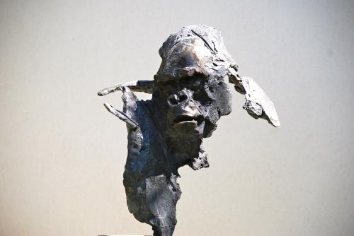 bronze,gambino,gorille,particulier,amateur,art,gambino,estade,lyon